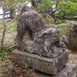 北前狛犬と城内階段(上山路上観察物件2)